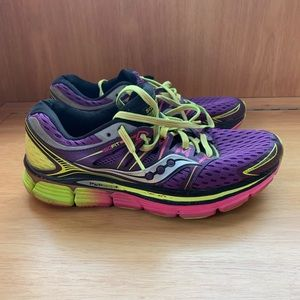 Colorful saucony running sneakers